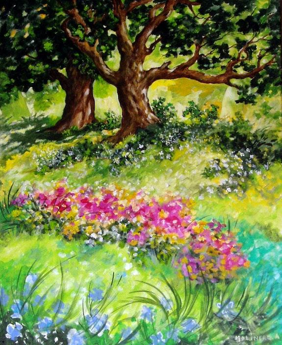 Garten Saba. Antoine Molinero Antoine Molinero -Peintre