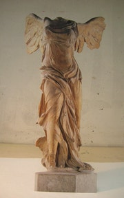 Trompe l'oeil-Victory of Samothrace.. Mc