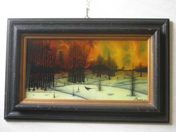 Village in winter. Nikola Kovacevic (1933) E. Schroeder