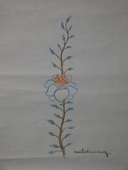 Blue flower. E. Schroeder