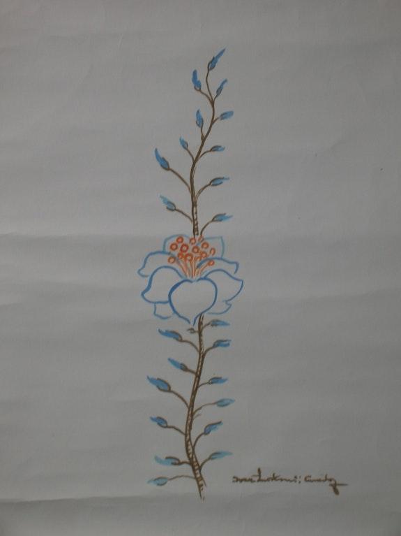 Blue flower. Ivan Lackovic Croata (1932) E. Schroeder
