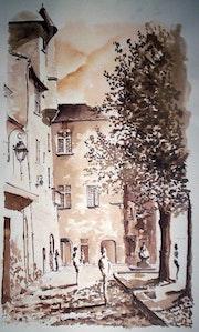 Périgueux - Place Saint-Louis. Bertrand Tacchella