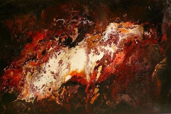 Dyptique : ST0807. Artiste peintre Doutreleau.Gérard