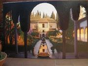 Patio de la Aceqia de la Alhambra. Toñi Aponte
