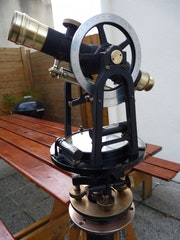 Theodolite with Keuffel & Esser compass.