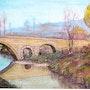 Invierno y el viejo puente romano. P. Ricaud
