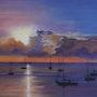 Puesta del sol. Bernard Sannier