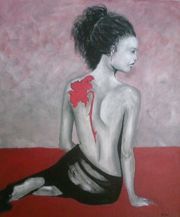 Tableau femme au tatouage. Amélie Morin Amelie Morin