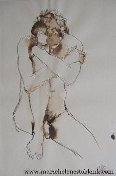 Naked man. Marie-Hélène Stokkink Marie-Hélène Stokkink