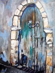 La puerta azul.