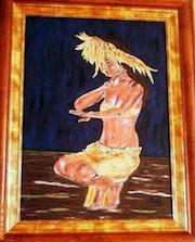 Tahitienne en pareo. Paula