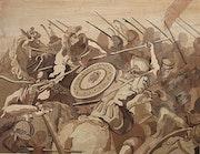 Kavallerie Gefechtsmodus. Marquetry Design