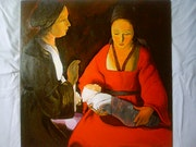 Natividad después de Georges de La Tour. Laurence Descamps