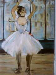 Bailarina en el fotógrafo después de Edgar Degas. Laurence Descamps