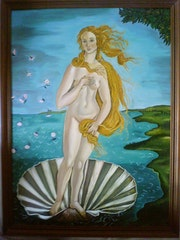 Venus nach Botticelli. Laurence Descamps