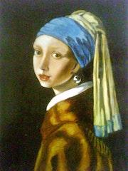 Das Mädchen mit der Perle nach Vermeer.