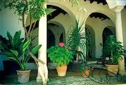 Garten auf einem Marmor-Spalte fünfzehnten Jahrhundert.. Fortimagen