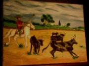 Manada de toros en la Camarga..