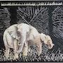 Eléphants 3 D-Tableau Déco. Corinne Leboeuf
