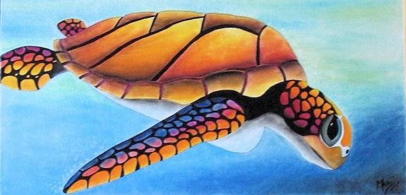 Sea turtle. Marji Marji