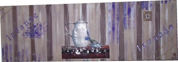 Lavande-Tableau Déco. Cocrea Corinne Leboeuf