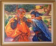 Reproduction de peinture d'après Etienne dinet, Orientaliste. Imprimeur