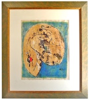 Lithogravure Exemplaire unique de Choukri mesli. Imprimeur