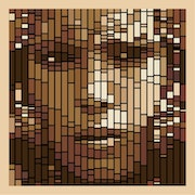 Berber Woman - OpticalArt - vector processing. Doulache