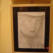 La jeune fille à chapeau. Marta Arberas