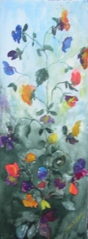 Sweet peas Giclee print only. Isabel Mcivor