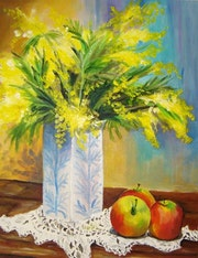 «The vase with mimosas».