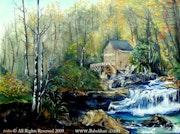 Le réalisme Creek Original Painting.