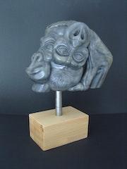 Gorilla imNebel.