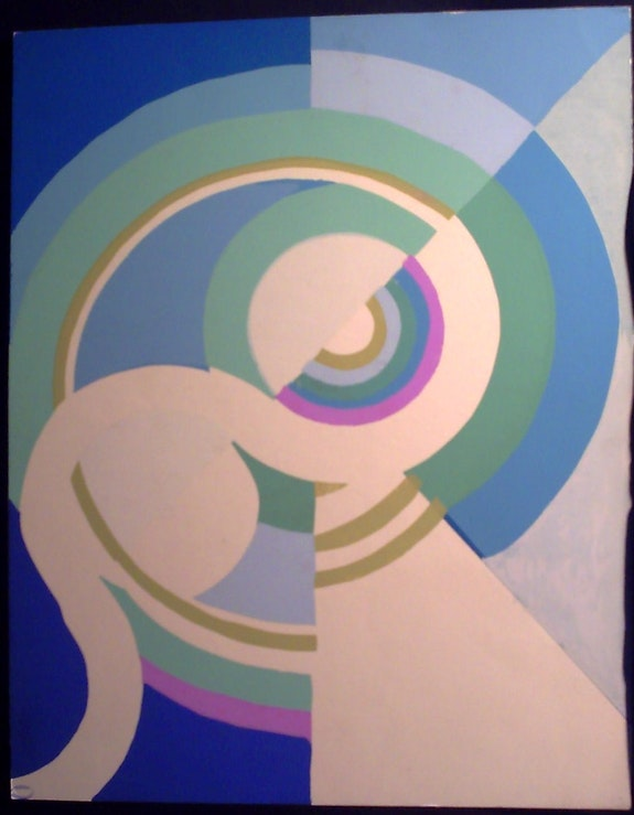 S. Delaunay: discos de Composición y de los círculos, plantilla. Sonia Delaunay Terk Historien d'art, Archéologue; Chercheur Free-L.