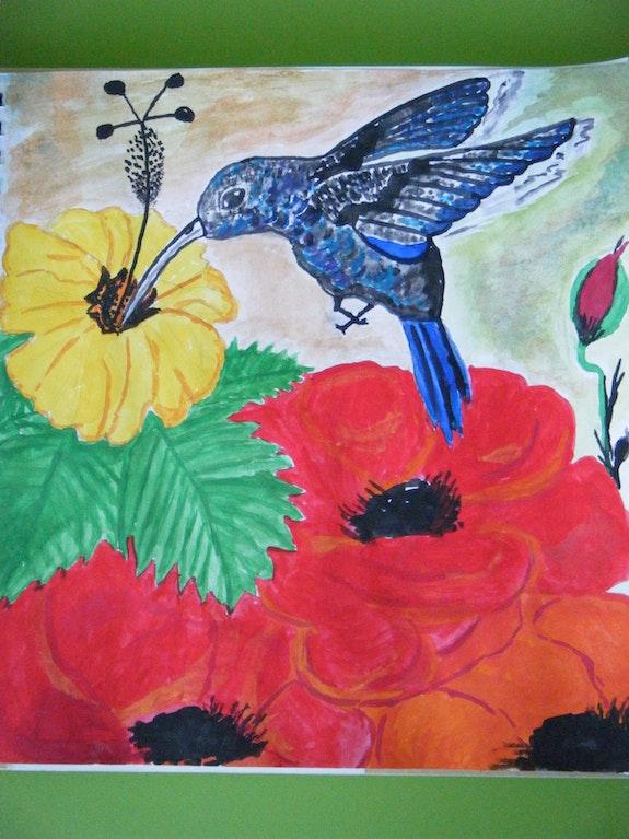 Joli colibri.  Chefdeville Martine