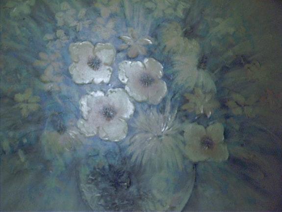 Peinture a l'huile sur toile avec cadre en bois.  Sonia Guillet
