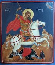 St. Georg als Drachentöter. Emmanuelle Ordener