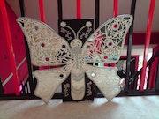 Tabelle Mosaik Spiegel Schmetterling. Francois Cartier