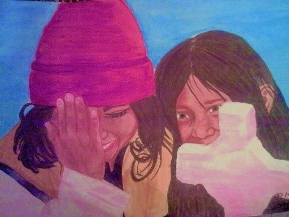 Krise des Lachens zwischen zwei Schwestern Peru (12 / 08/2008). Ludmila Ludmila
