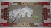 Patchwork de orquídeas de lino n º 1.