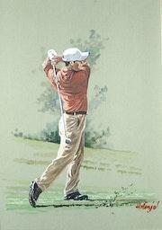 Golfer red. Henri Fanjul