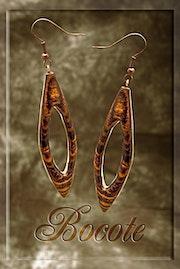Earrings Wood «Bocote». Jewelsinwood.Com