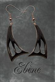 Earrings Wood «Ebene». Jewelsinwood.Com