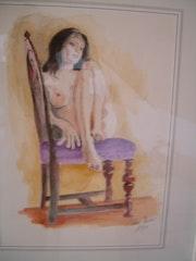 Purple chair.