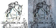 Horse on wood or canvas. Co-Ré-Graph