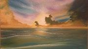 Sunset ocean Poole. Stuart Lloyd