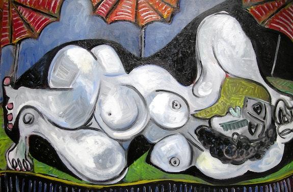 Desnudo con Parasol. Günter Maria Goldau Goldau Maria
