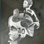 African Mask. M. Faure