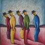 Cinq hommes. Silvia Fritsch