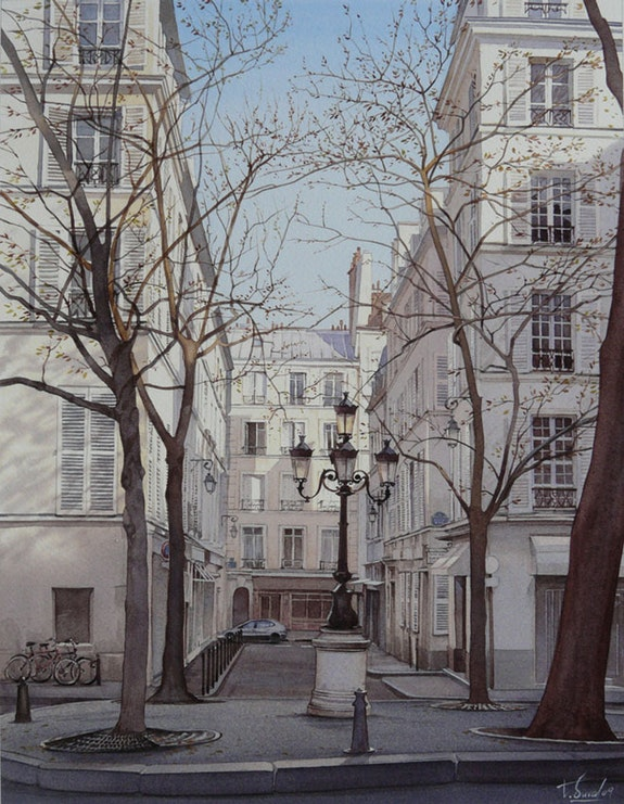 In the shadow of the Place Furstenberg. Thierry Duval Thierry Duval